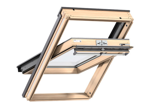 VELUX GGL CK02 3070 Lacquered Pine Top-Hung Window 55x78cm