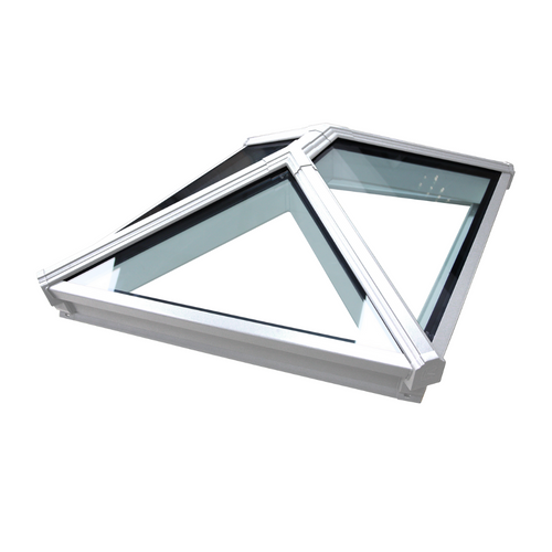 Korniche Roof Lantern with Clear & White/White 85x85cm