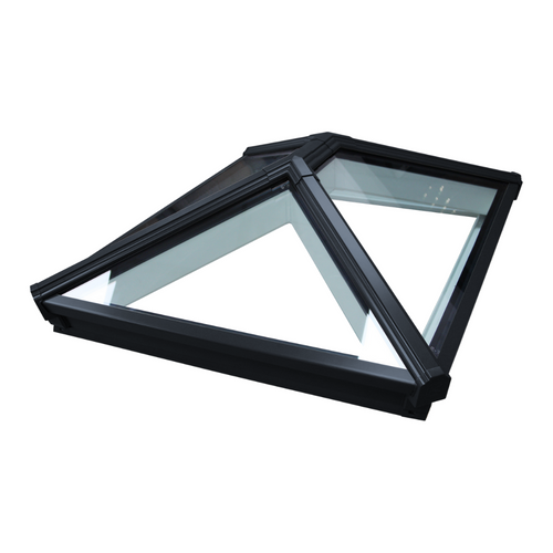 Korniche Roof Lantern with Clear & Black Ext./White Int. 100x100cm