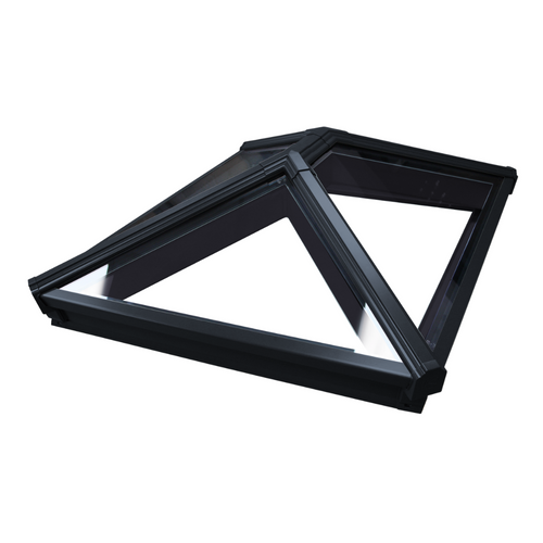 Korniche Roof Lantern with Ambi Blue Tint & Black/Black 100x200cm