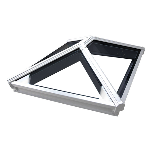 Korniche Roof Lantern with Clear & Grey Ext./White Int. 100x100cm