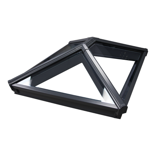 Korniche Roof Lantern with Clear & Grey/Grey 100x100cm