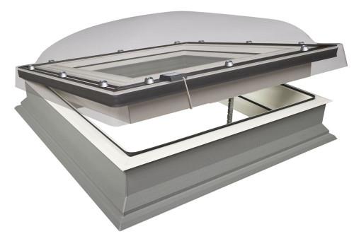 FAKRO DEC-C P2 05K Electric Domed Flat Roof Window with Anti-burglary Double glazing 90x90cm