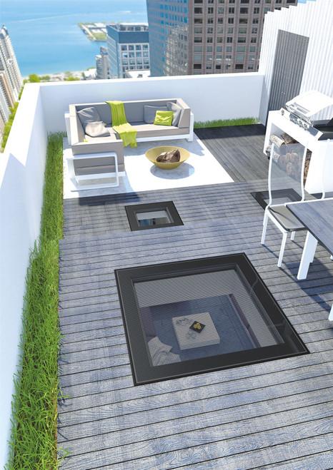 FAKRO DXW DW6 04K Walk on Flat Roof Window 80x80cm