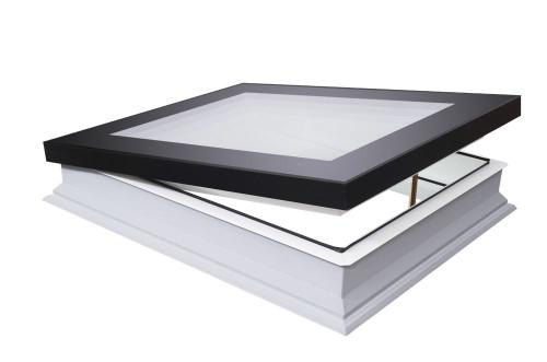 FAKRO DMF-D U8 01K Manual Flat Roof Window with High Energy Efficient Quadruple glazing 60x60cm
