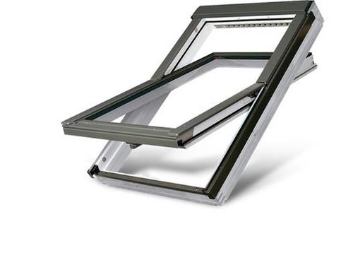 FAKRO FTW-V P5 03 Centre-Pivot Roof Window in White Acrylic with Anti-burglary Triple glazing 66x98cm