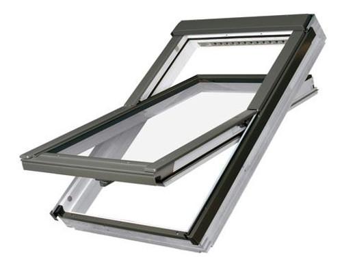 FAKRO FTU-V P5 01 Centre-Pivot Roof Window in White Polyurethane with Anti-burglary Triple glazing 55x78cm