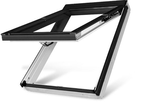 FAKRO FPW-V P2 13 Top-Hung Dual Action Roof Window in White Acrylic with Safety Double glazing 78x160cm