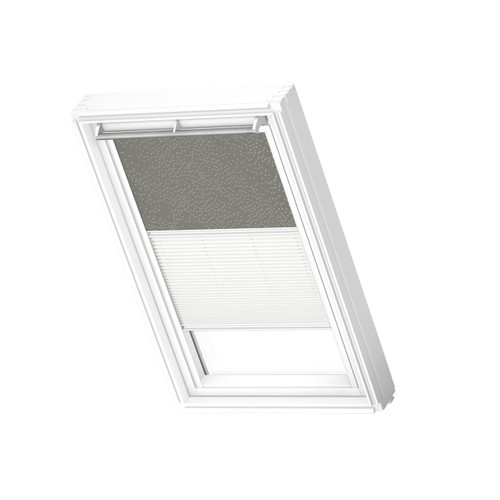 VELUX 4575 Duo blackout Dusty green / white