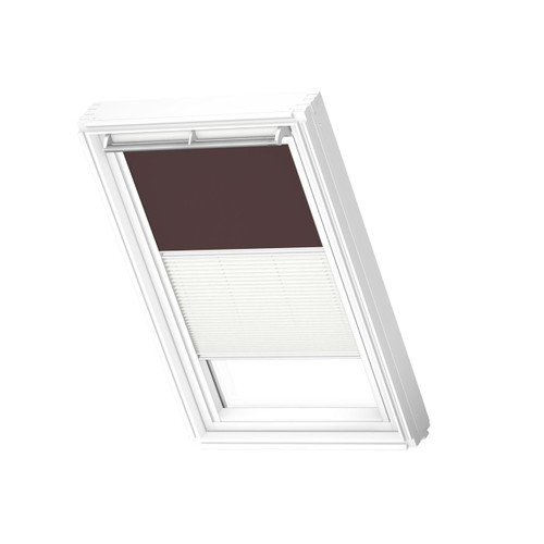 VELUX 4559 Duo blackout Dark brown / white