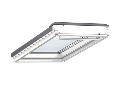 VELUX Centre Pivot Low-Pitch Roof Window GBL White Painted Pine
