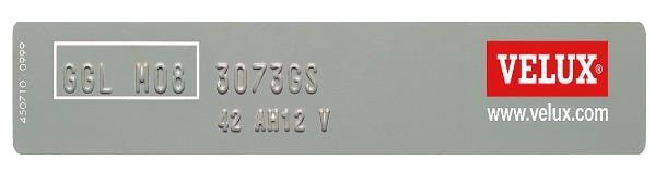 VELUX Typeplate 2