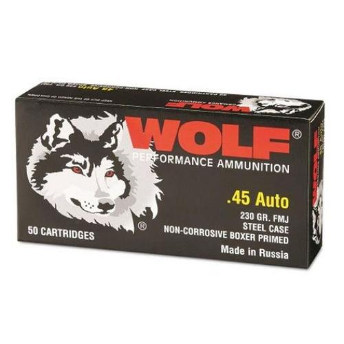 Wolf | 230gr | FMJ | .45 ACP | (Steel Case)
