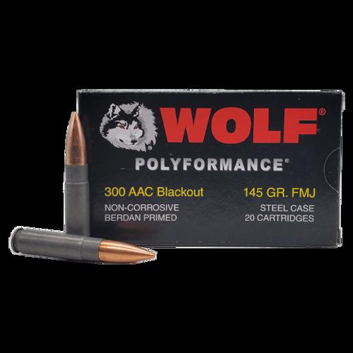 Wolf   145gr   FMJ   300 BLK   (Steel Case)