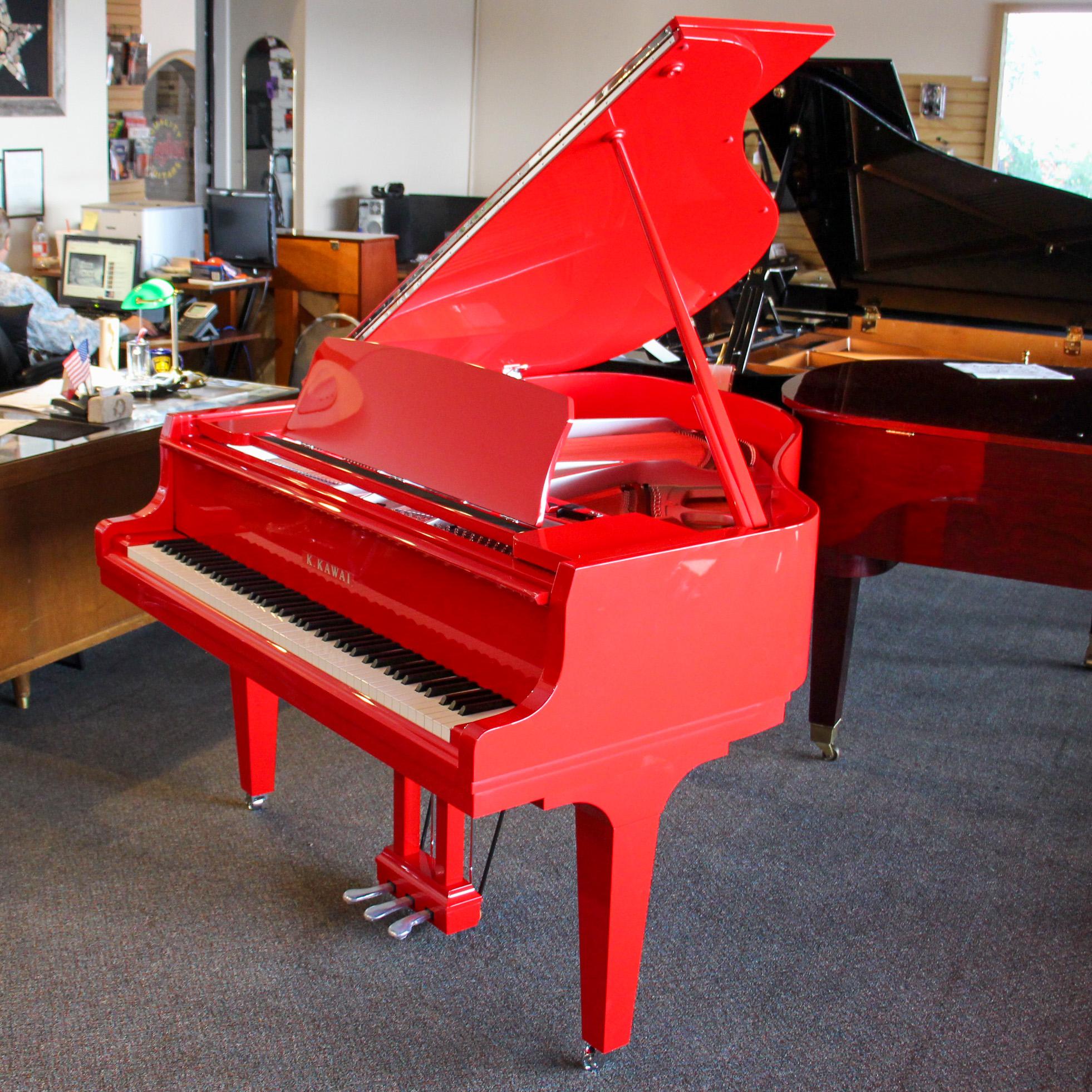 "GL-10 | 5'0"" Classic Baby Grand Piano | Ferrari Red Polish"