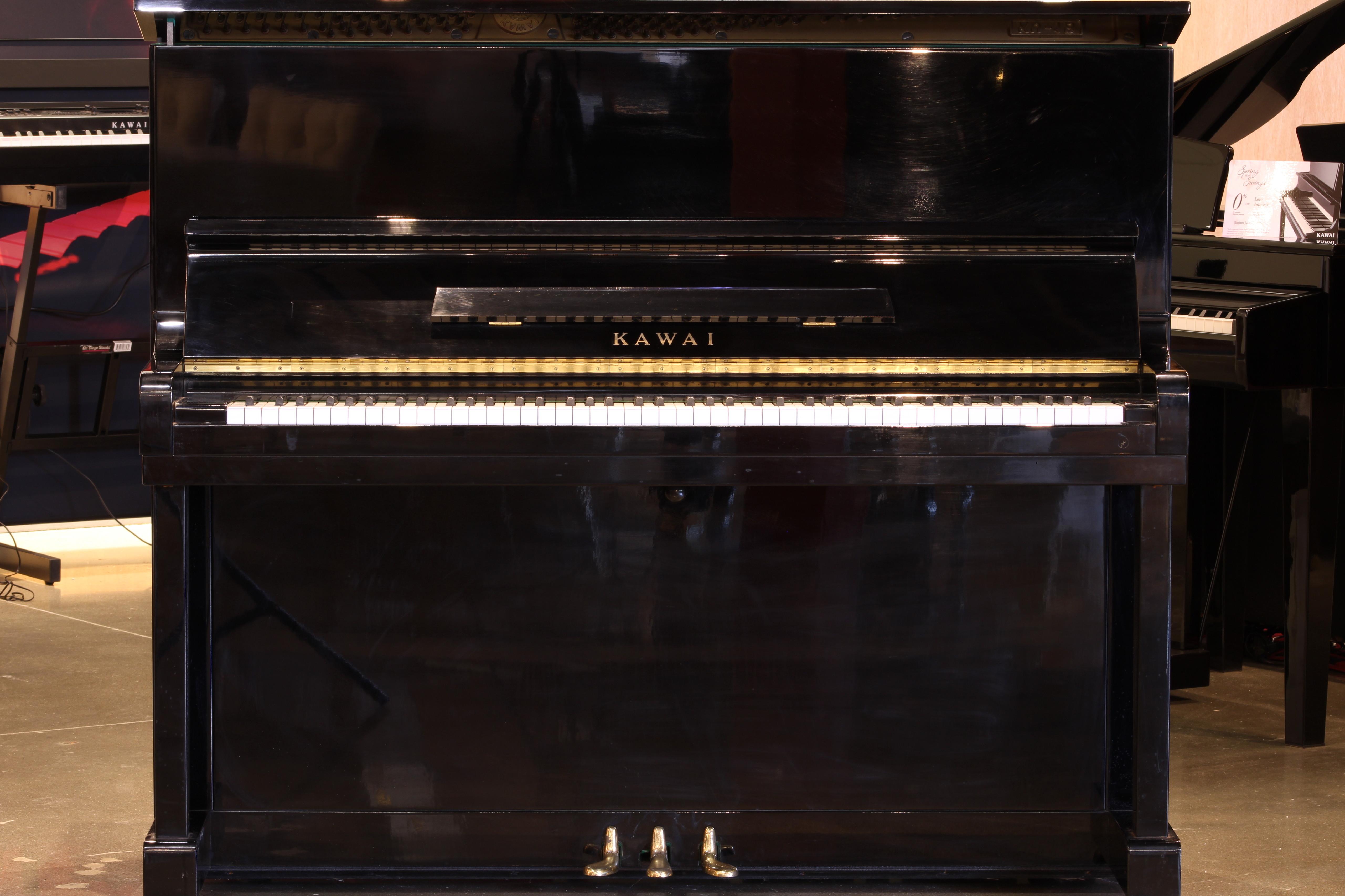 "Kawai KU-1B Studio Piano | 49"" Polished Ebony"