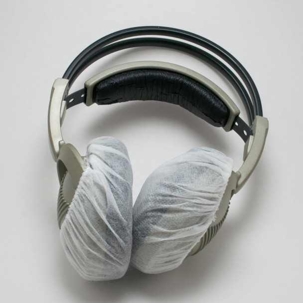 Headphone Covers, Large Stretchable White (100 count)