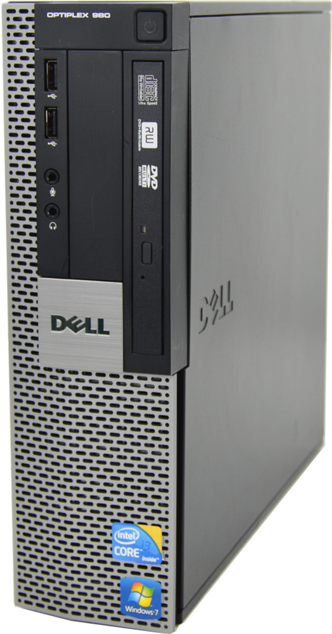 Dell Optiplex 980 SFF Core i3 2.93GHz, 4GB Ram, 250GB HDD, DVD-RW, Windows 10 Pro 64 Desktop Computer