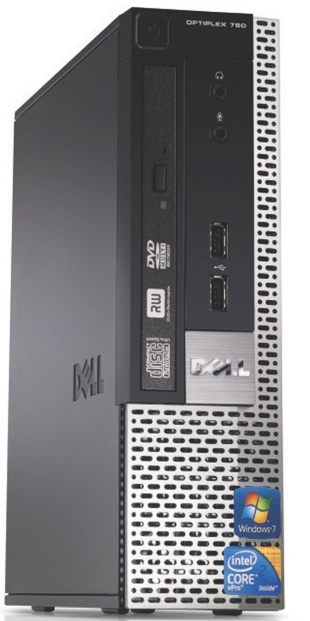 Dell Optiplex 780 USFF Core 2 Duo 2.93GHz, 4GB Ram, 160GB HDD, DVD, Windows 7 Pro 64 Desktop Computer
