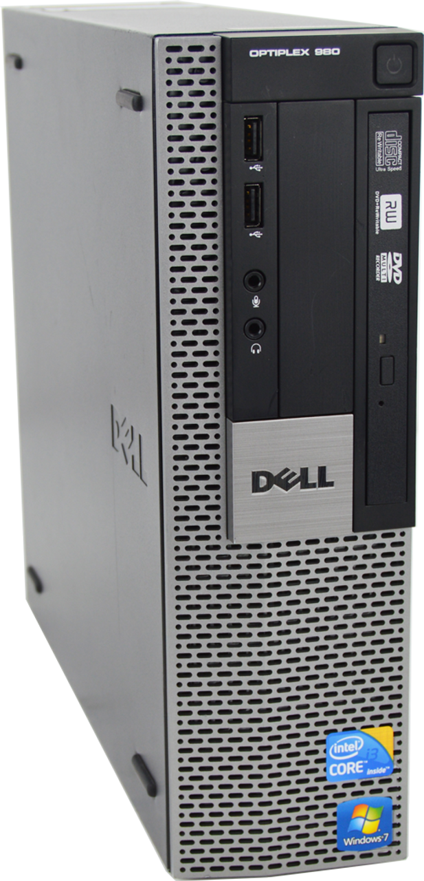 Dell Optiplex 980 SFF Core i3 3.2GHz, 4GB Ram, 250GB HDD, DVD-RW, Windows 7 Pro 64 Desktop Computer