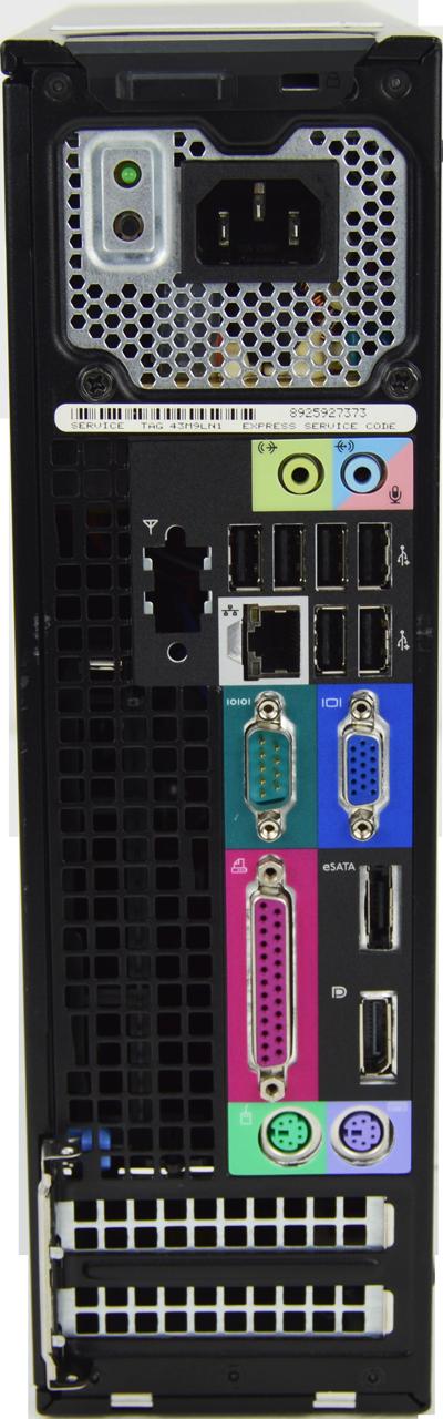Dell Optiplex 980 SFF Core i3 3.2GHz, 4GB Ram, 250GB HDD, DVD-RW, Windows 7 Pro 64 Desktop Computer