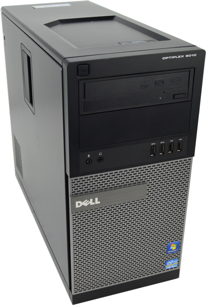 Dell Optiplex 9010 Tower Quad Core i5 3.40GHz, 4GB Ram, 500GB HDD, DVD-RW, Windows 7 Pro 64 Desktop Computer