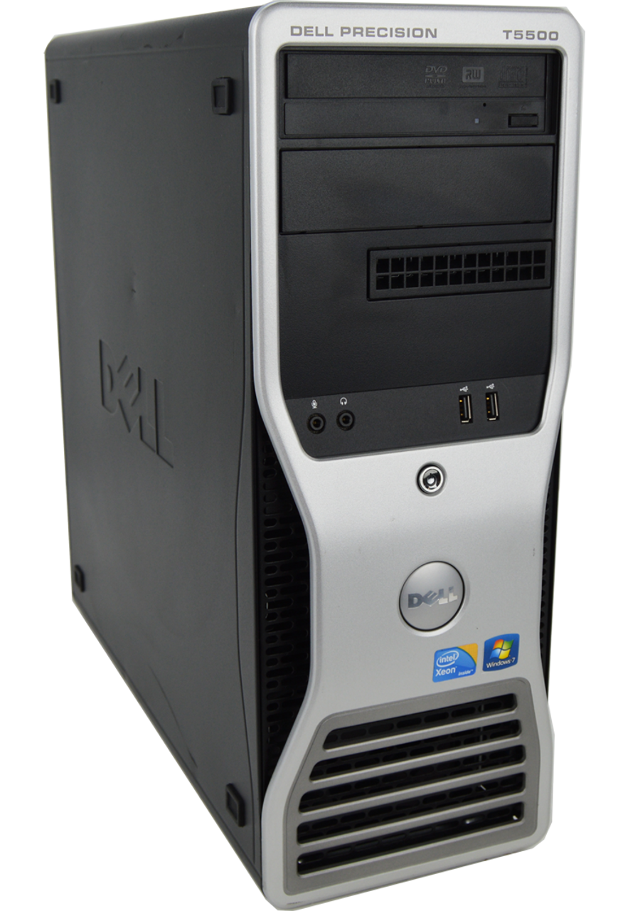 Dell Precision T5500 Tower Dual Intel Xeon Quad Core 2.27GHz, 24GB Ram, 500GB HDD, DVD-RW, Windows 7 Pro 64 Desktop Computer