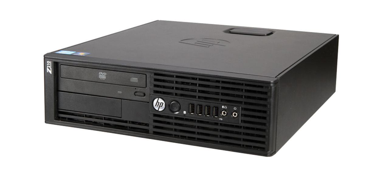 HP Compaq Workstation Z210 SFF Core i3 3.1GHz, 4GB Ram, 250GB HDD, DVD-RW, Windows 10 Pro 64 Desktop Computer