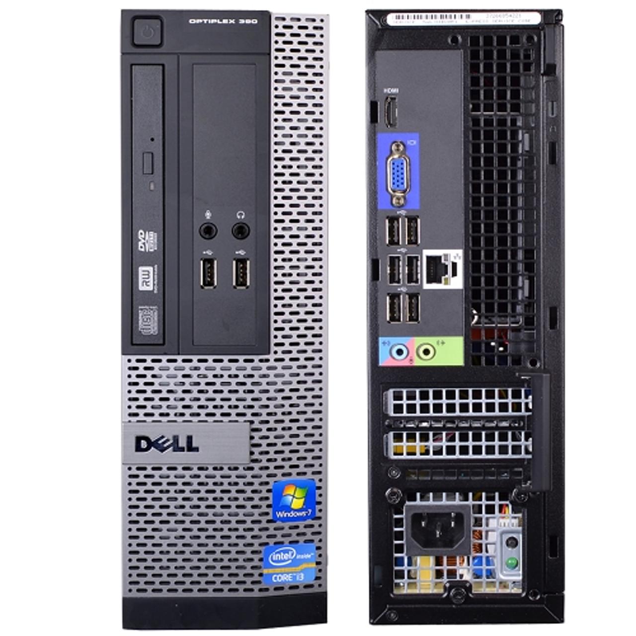 Dell Optiplex 390 SFF Core i3 3.1GHz, 4GB Ram, 250GB HDD, DVD-RW, Windows 7 Pro 64 Desktop Computer