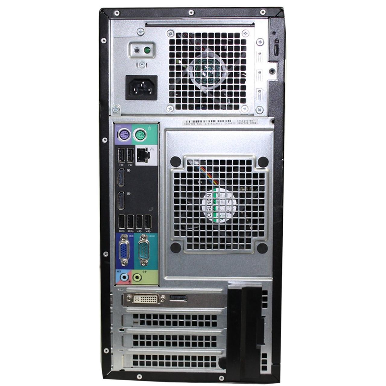 Dell Optiplex 7010 Tower Quad Core i7 3.40GHz, 8GB Ram, 500GB HDD, DVD-RW, Windows 10 Pro 64 Desktop Computer