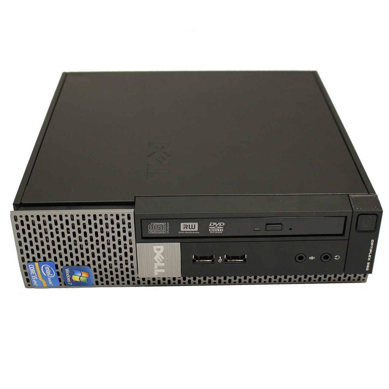 Dell Optiplex 990 USFF Quad Core i5 2.5GHz, 4GB Ram, 320GB HDD, DVD-RW, Windows 10 Pro 64 Desktop Computer