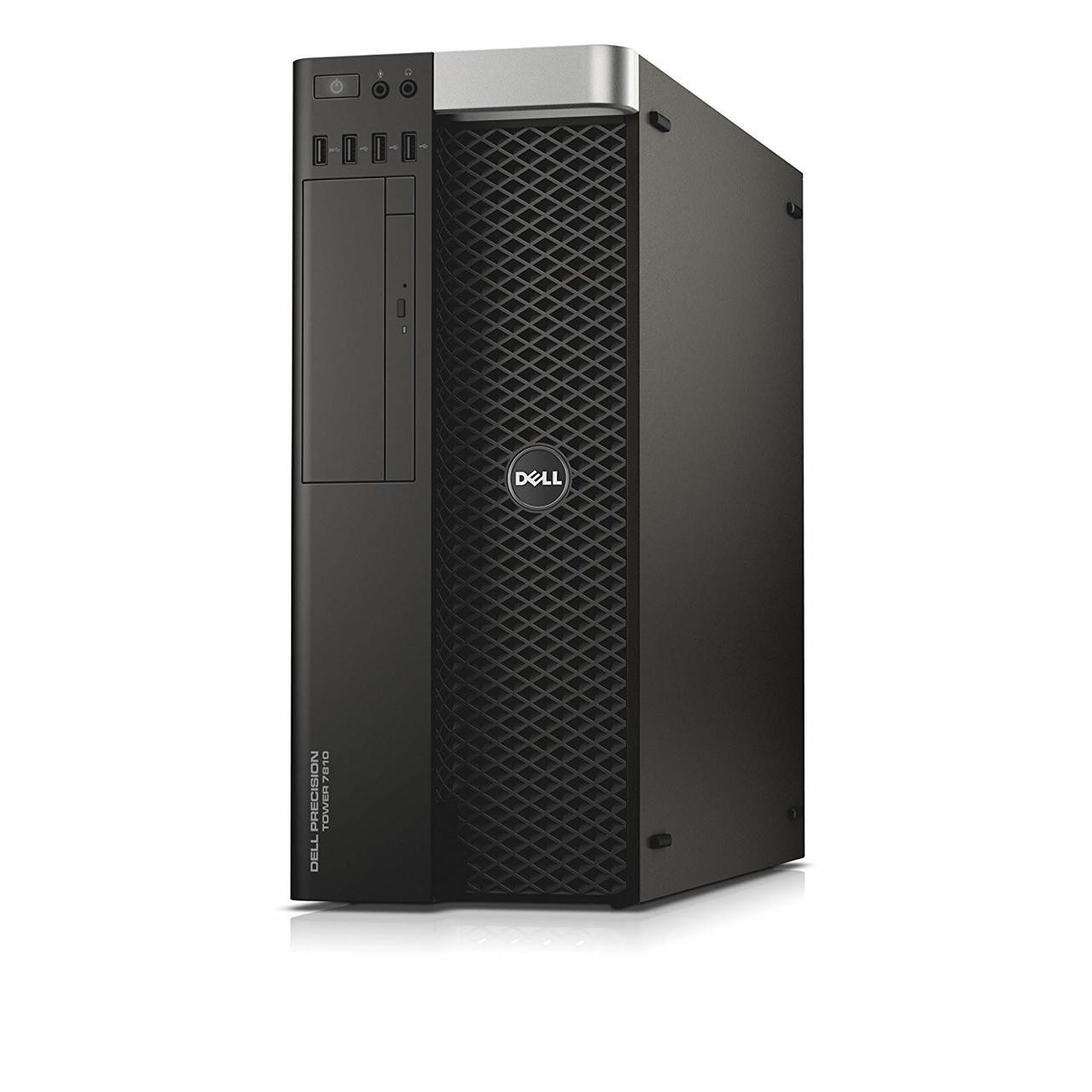 Dell Precision T7810 Tower Dual Six Core Intel Xeon 1.9GHz, 8GB Ram, 500GB HDD, DVD-RW, Windows 10 Pro 64 Desktop Computer