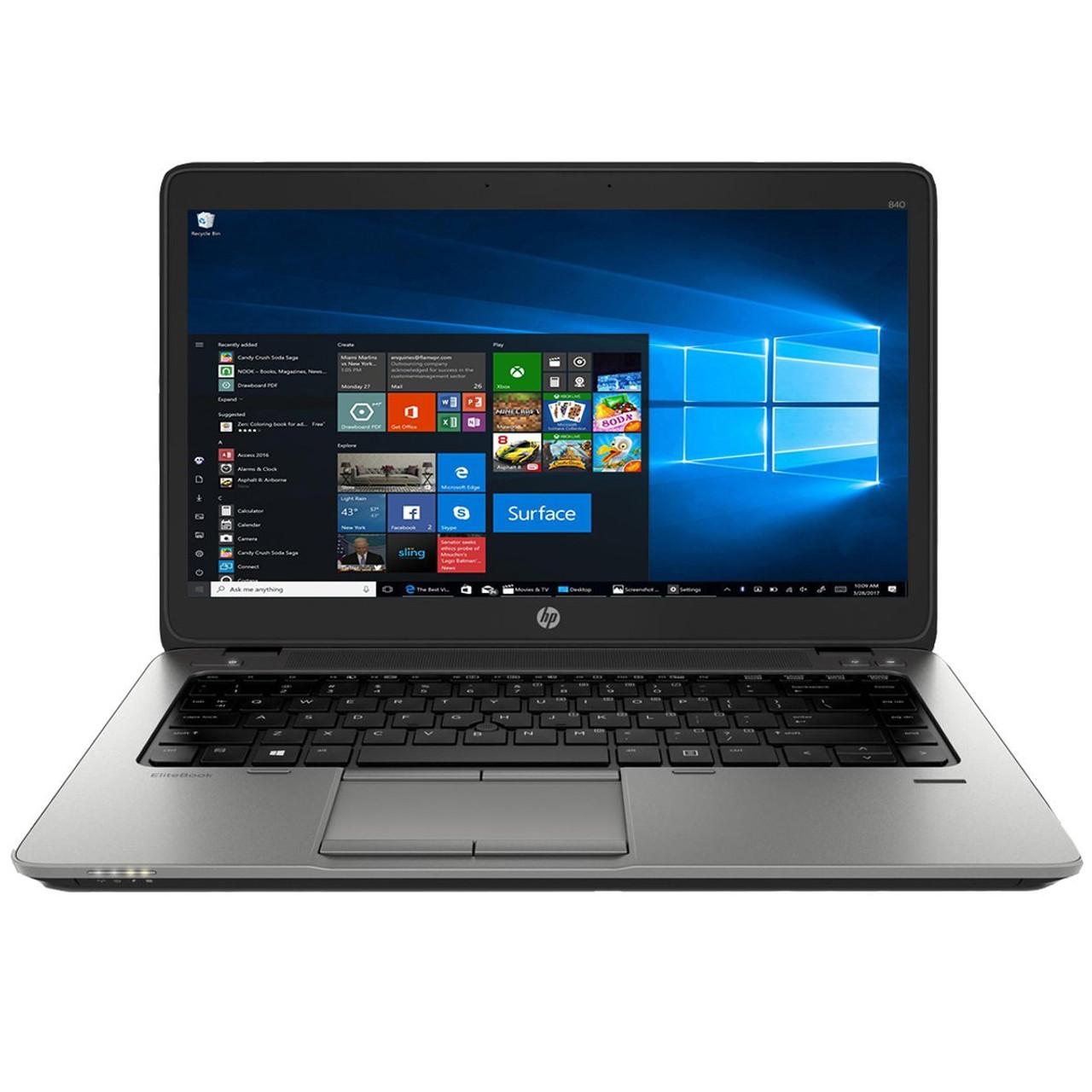 HP Elitebook 840 G1 Laptop Core i5 1.9GHz, 8GB Ram, 320GB HDD, DVD-RW, Windows 10 Pro 64 Notebook