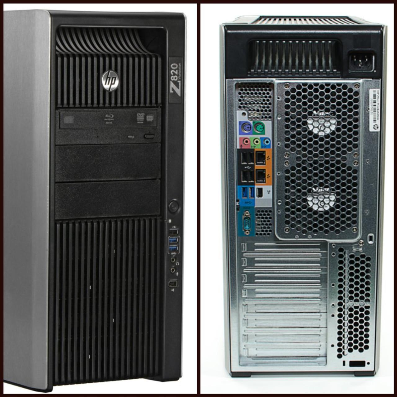 HP Workstation Z820 Tower Dual Six Core Intel Xeon 2.50GHz, 32GB Ram, 500GB SSD, DVD-RW, Windows 10 Pro 64 Desktop Computer