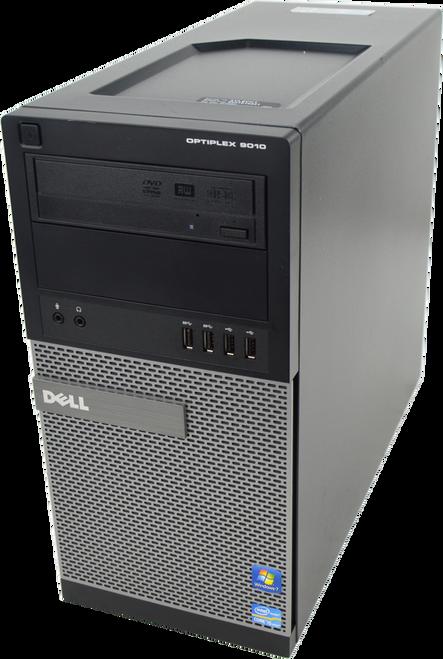 Dell Optiplex 9010 Tower Quad Core i5 3.40GHz, 4GB Ram, 500GB HDD, DVD-RW, Windows 7 Pro 64 Desktop Computer