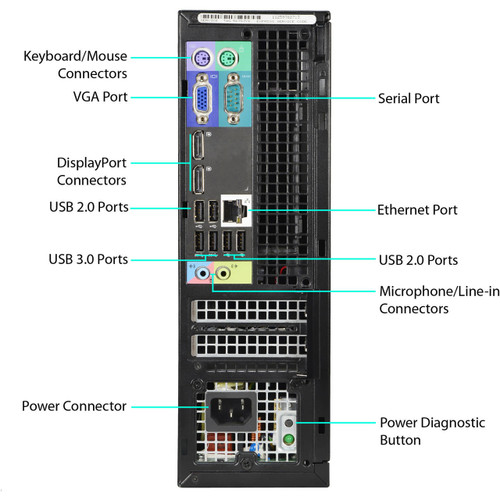 Dell Optiplex 9010 SFF Quad Core i5 3.20GHz, 8GB Ram, 500GB HDD, DVD-RW, Windows 10 Pro 64 Desktop Computer