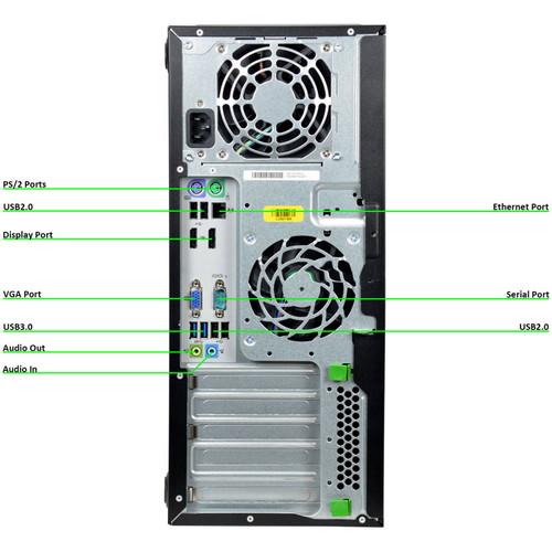 HP Elitedesk 800 G1 Tower Quad Core i5 3.2GHz, 8GB Ram, 500GB HDD, DVD-RW, Windows 10 Pro 64 Desktop Computer