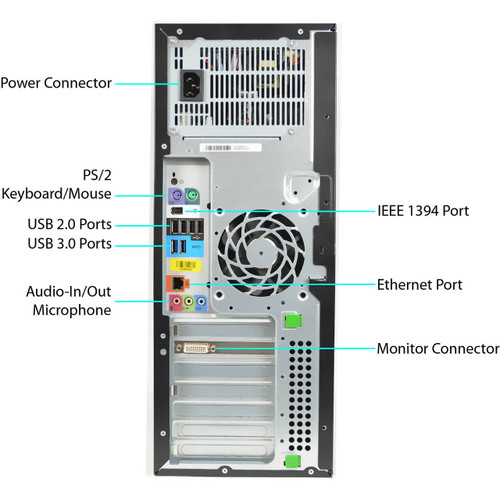 HP Workstation Z420 Tower Quad Core Intel Xeon 3.6GHz, 8GB Ram, 500GB HDD, DVD-RW, Windows 10 Pro 64 Desktop Computer