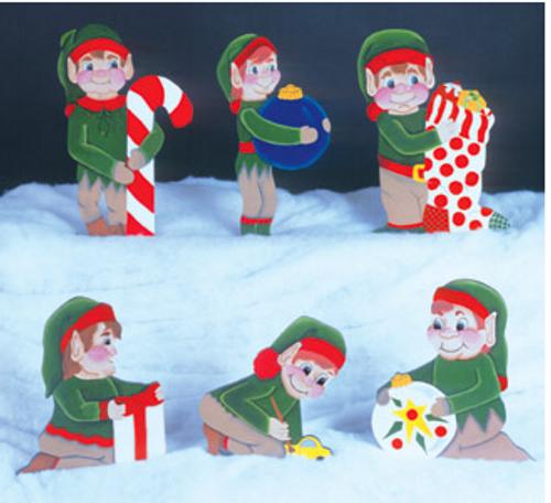 6 Helpful Elfs Woodcraft Pattern