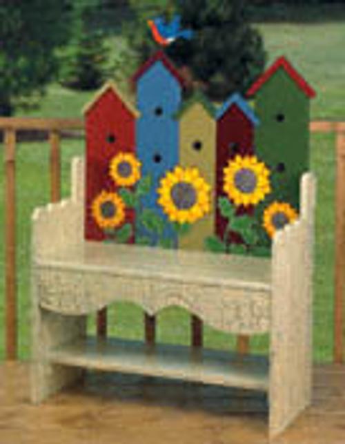 Birdhouse Bench Wooden Pattern