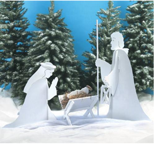 Blessed nativity Scene Wooden Pattern