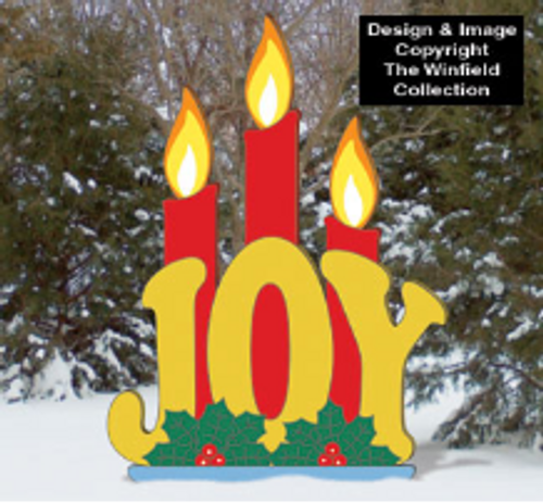 Candle Light Joy Wood Pattern