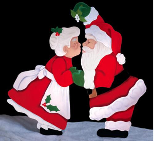 Christmas Kiss Wooden Pattern