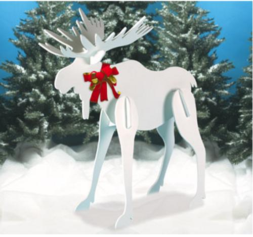 Christmas Moose Wooden Pattern
