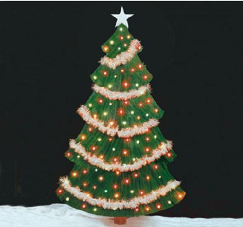 Christmas Tree Wooden Pattern