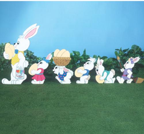 Easter Rabbit Parade Wood Craft Pattern