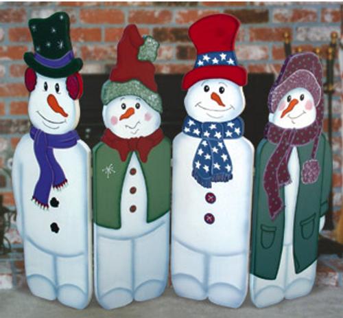 Folding Snowmen Wood Pattern