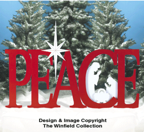 Giant Holiday Peace Wooden Pattern