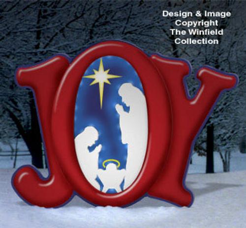 Glowing Joy Nativity Wood Craft Pattern