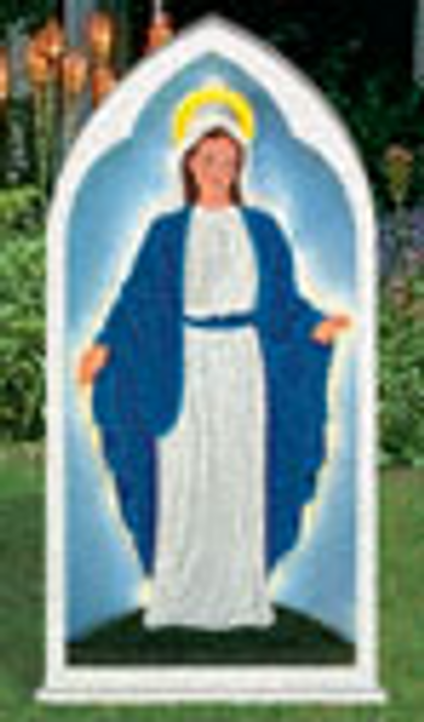 Glowing Virgin Mary Yard Display Pattern